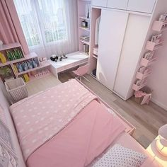 Small apartment bedrooms - 35 wonderful small apartment bedroom design ideas and decor 11 Small Apartment Bedrooms, Pink Bedrooms, Small Room Bedroom, Small Rooms, Bedroom Decor, Bedroom Ideas, Small Bed Room Ideas, Bedroom Rustic, Decor Room