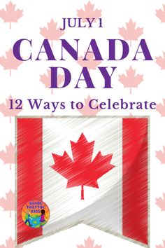 Canada Day, celebrated every July is a day for Canadians everywhere to show pride in their country's history and culture. Discover more about Canada, their national day traditions, and 12 ways to celebrate. Backpacking Canada, Canada Travel, Visit Canada, Canada Day, Summer Activities For Kids, Fun Activities, Geography Of Canada, Canada For Kids
