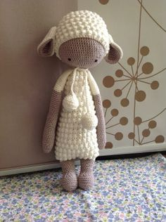 LUPO the lamb made by Cathrin K. / crochet pattern by lalylala