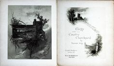 Elegy Written in a Country Churchyard, by Thomas Gray. Castell Brothers, London, E. & J. Young & Co, New York