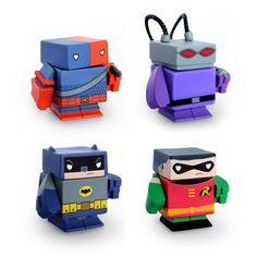Funko Batman, Robin, Black Manta and DeathStroke Interchangeable Magnetic Vinyl Figures