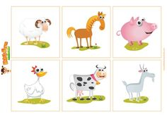 Kiki's Farm Animals Shadow Match is a great little matching game. Let's your kids simply match the farm animals according to their shadow.  Easily print out both sheets (using card stock for added strength and durability), cut out each square, then laminate for added strength. Enjoy!