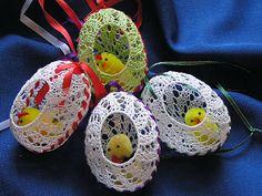 Easter Crochet Patterns, Crochet Birds, Crochet Patterns Amigurumi, Crochet Doilies, Hand Crochet, Crochet Flowers, Crochet Toys, Egg Crafts, Yarn Crafts