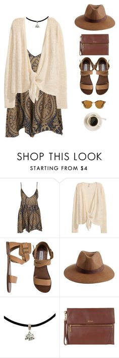 """""""coffee date."""" by gre17 ❤ liked on Polyvore featuring One Teaspoon, Steve Madden, Reiss, Modalu and Ray-Ban"""