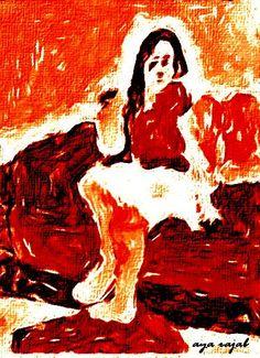 لوحة للفنانة التشكيلية الفلسطينية اية رجب 95