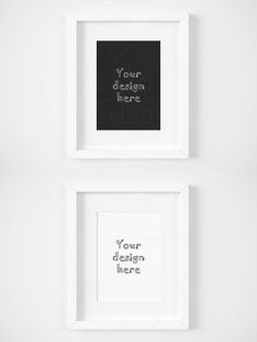 White matted frame 5x7 inch mockup. Product Mockups