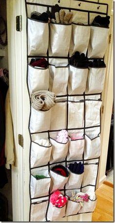 Over the door storage for winter weather gear