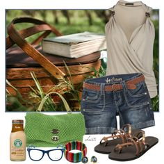 Reading in the Park, created by christa72 on Polyvore