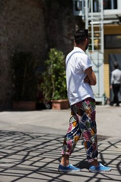 loving this for myself!!! on the street... print pants, florence