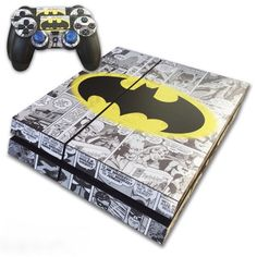 PS4 Skin EXCLUSIVE Original BATMAN Comic Strip with 2 Controller Skins Playstation 4