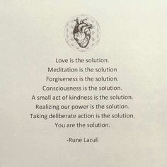 You are the solution. Rune Lazuli.