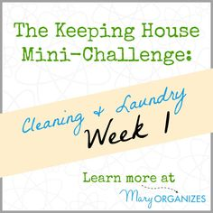 Week 1 of Cleaning and Laundry {The Keeping House Mini-Challenge}