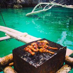 BBQ on a boat. Outside Lake Kayangan, Coron, Philippines.