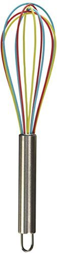 ExcelSteel Tricolor Silicone Whisk 10Inch