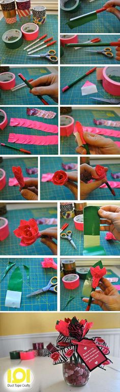 Make a Duct Tape Rose Bouquet | 101 Duct Tape Crafts