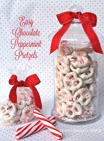 bloom designs: Make It Monday- Easy Chocolate Peppermint Pretzels
