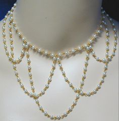 Elizabethan Necklace Draping Pearls Festoon