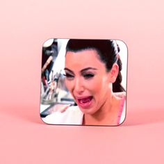 Kim Kardashian Funny Crying Face Coaster Funny Coaster 2s001a (4.15 AUD) ❤ liked on Polyvore featuring home, kitchen & dining, bar tools, coasters, drink & barware, drinkware, grey, home & living, wooden drink coasters and wood drink coasters