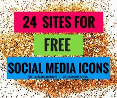 Pin and save for later! So many good Freebie Social Media Icons!
