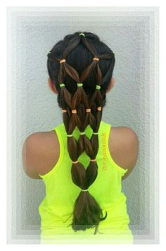 Elastics hairstyle. . Summer hairdo tutorial