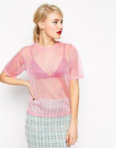 ASOS | ASOS Tee In Sheer Knit at ASOS