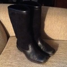 "Selling this ""REDUCED! UGG TALL BLACK LEATHER RIDING BOOTS, 7.5"" in my Poshmark closet! My username is: backbend31. #shopmycloset #poshmark #fashion #shopping #style #forsale #UGG #Boots"