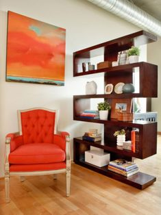 Very cool bookcase come room divider