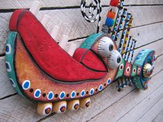 Twisted Fish 110  Found Object Wall Art by Fig Jam by FigJamStudio, $65.00