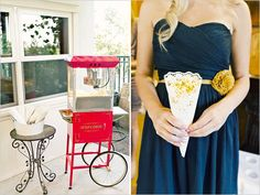 Lawn games and popcorn to keep the guests busy and entertained while you take pictures.  Great alternative to an open bar if you are trying to keep costs down!