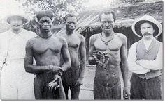 Fotografía histórica de la colonización del pueblo bemba.