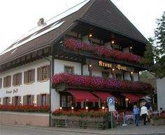 You know you are in Germany when everywhere you see flowers! This is the Krone Post in Simonswald, from the website www.bensbauernhof.com