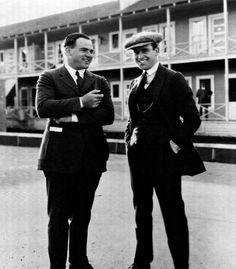 Comedy producer Hal Roach and his star comedian of the silent era Harold Lloyd. Even after going separate ways professionally in 1923, Roach and Lloyd remained longtime friends.