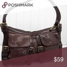 c224ac7a91b I just added this listing on Poshmark  KOOBA Brown Leather Shoulder Bag  Small.