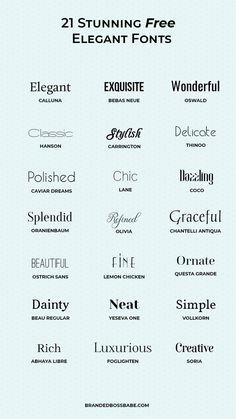 20 beautiful and free elegant fonts - Ana Amelio - Design for Life Site Web Design, Graphisches Design, Logo Design, Design Ideas, Vector Design, Portfolio Graphic Design, Graphic Design Fonts, Typographie Fonts, Cv Inspiration