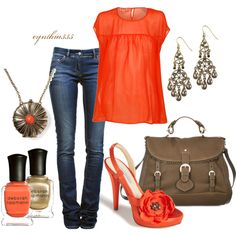 """""""Summer Poppy"""" by cynthia335 on Polyvore- Love the shoes!"""