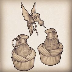 I know I already have a cupcake tattoo, but I would love to get one of these too