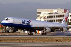 Astar Cargo Airlines, USA, rnded ops in 2012 - Douglas DC-8F freighter - via PJ de Jong