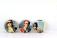 Cream Buttons - One of a Kind - Jack Bruce Eric Clapton Ginger Baker Badges - 60s Band Pins by JeepsterVintage on Etsy