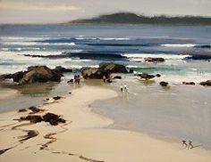 Carmel Beach by Brian Blood Oil ~ 11 x 14