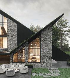 Villa, Mansions, Contemporary, House Styles, Design, Home Decor, Decoration Home, Manor Houses, Room Decor