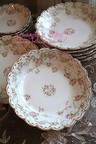 Limoges China, Antique Dishes, Vintage Tea, Bone China, Tea Time, Tea Party, Bliss, Decorative Plates, Romantic