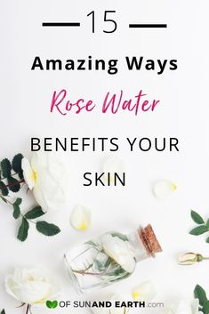 skin care Dupes setting spray - 15 Amazing Ways Rose Water Benefits Your Beauty Routine - Of Sun and Earth Skin Care Treatments, Acne Treatment, Natural Rose Water, Diy Moisturizer, Dry Skin Remedies, Water Benefits, Makeup Setting Spray, Linen Spray, Water Recipes