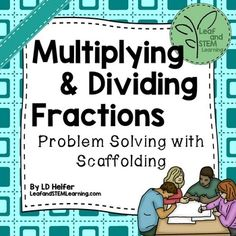 This multiplying and dividing fractions activity can be used for a math center or for small group instruction. Students use 16 paired real-world word problems to practice determining whether multiplication or division is appropriate. A work mat guides students through the problem solving process by having students relate the fractional situations to whole number situations.