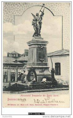 Bucuresti - Monumentul Pompierilor din Dealul Spirei - 1903 Under Construction, Old Pictures, Romania, Dan, History, Country, Movies, Movie Posters, Vintage
