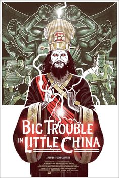 Check out the Big Trouble in Little China Movie Poster Screen Print by Sam Bosma x Mondo! 80s Movie Posters, Cinema Posters, Movie Poster Art, Classic 80s Movies, Great Movies, Awesome Movies, Sam Bosma, The New Yorker, China Movie