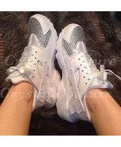 huge selection of 1979d a4dad Cheap Nike Air Huarache Silver Crystal Trainer