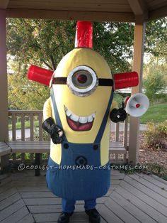Cool Homemade Carl BeeDoo Minion Costume... This website is the Pinterest of costumes