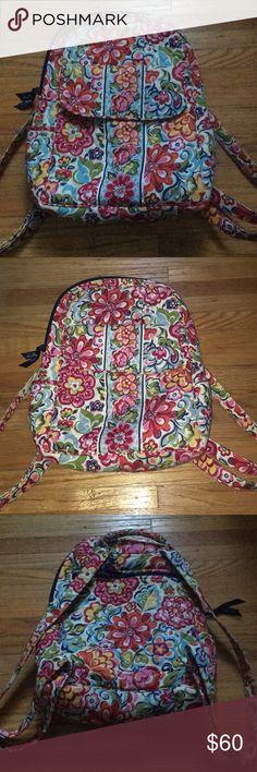 Vera Bradley Backpack Beautiful floral Vera Bradley backpack in wonderful condition! Very slight fading, hardly noticeable! Vera Bradley Bags