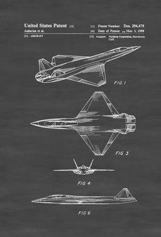 Northrop Stealth Airplane Patent - Airplane Blueprint Aviation Art Airplane Art  Pilot Gift Aircraft Decor Airplane Poster Northrop by PatentsAsPrints