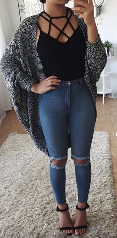 Keep it casual trendy fall outfits, spring outfits for teen girls, summer fashion for Trendy Fall Outfits, Fall Winter Outfits, Outfits For Teens, Spring Outfits, Casual Outfits, Casual Wear, Curvy Girl Outfits, Dress Casual, School Outfits